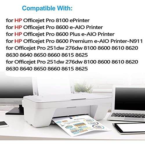 950 951 Cartuchos De Tinta Compatibles con Reemplazo para HP950XL 951XL, Aplicable para HP OfficeJet Pro 251DW 276DW 8100 8600 8610 8620 8630 8615 8625 2 Set
