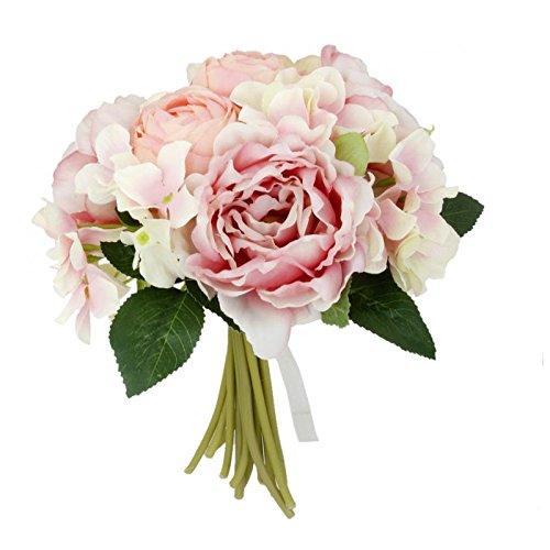 Baoblaze Fleurs de Pivoine Artificielles Bouquet