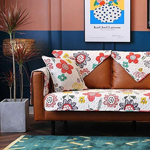 Cubierta de sofá Comprar uno Obtener uno Gratis Cubierta de sofá seccional, Cubierta de sofá Impresa Floral para sofá de 3 Cojines, Tapa de sofá Antideslizante L FABLA DE Tienda REPLIZADOR