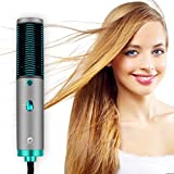 Hair Straightener Brush, YOUNGDO Hair Straightening Brush with Built-in Comb for Frizz-Free Silky Hair, Anti-Scald, Auto-Off Safe & Easy to Use, Straightening Comb for Salon at Home