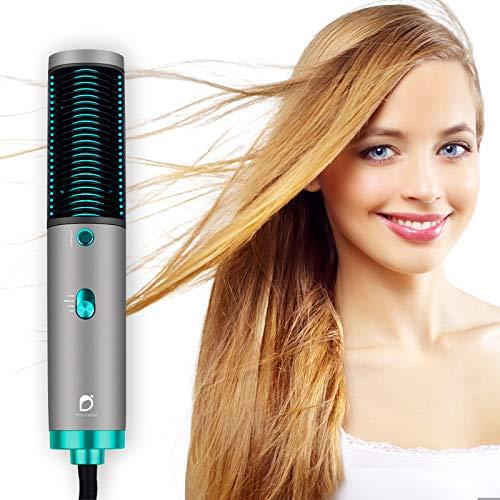 YOUNGDO Warmluftbürste Haartrockner, 3 In 1 Stylingbürste mit Infrarotstrahlungsfunktion, Hair Dryer/Volumizer/Haarglätter/Heißluftkamm/Massagekamm