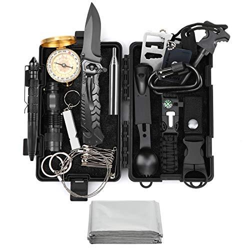 EgoIggo Kit de Supervivencia Profesional, 8 en 1 Kit de Supervivencia montaña. Multifuncional Caja de Supervivencia de Emergencia. Regalo para Hombres para Viajar Caminar Acampar