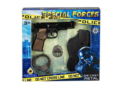 Gonher-Pistola policia Esposas, sin Talla (425/6)