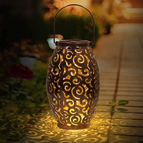 LED Solar Laterne Aussen, Solarlaterne für Außen Solarleuchte Solarlampen Hängend Deko Wasserdichte Solar Licht Nachtlicht für Terrasse Pathway Veranda Weihnachten Dekorative Gartendeko