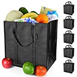 EasyEarth Reusable Grocery Bags EcoFlex [5 Pack] - Large Shopping Bag - Heavy Duty, Durabl...