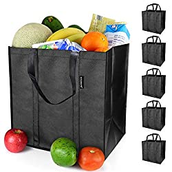 professional EasyEarth EcoFlex reusable product bag [5 Pack] – Large shopping bag – Durable, durable,…