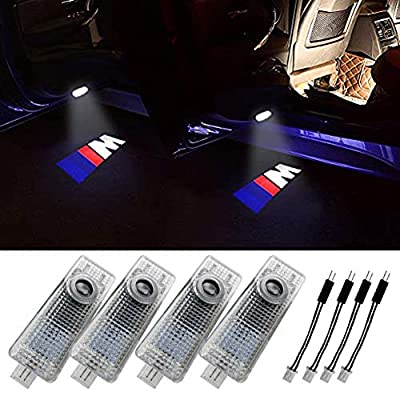 Grolish BMW M Car Door LED Logo Lighting Projector Welcome Lights For BMW(4-Pack)