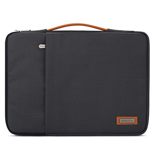 "NIDOO 13 Zoll Laptop Tasche Sleeve Hülle Umhängetaschen Aktentasche Laptoptasche für 13"" MacBook Pro / 12.9\"" iPad Pro 2016 2017/13.5\"" Surface Laptop 2/13.3\"" Dell Inspiron 13 7380 7386, Schwarz"