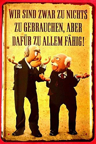 YASMINE HANCOCK Muppets Waldorf & Statler Funwir Sind Zwar Zu Metall Plaque Zinn Logo Poster Wand Kunst Cafe Club Bar Wohnkultur