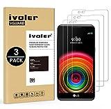 ivoler [3 Stücke] Panzerglas Schutzfolie für LG X Power,