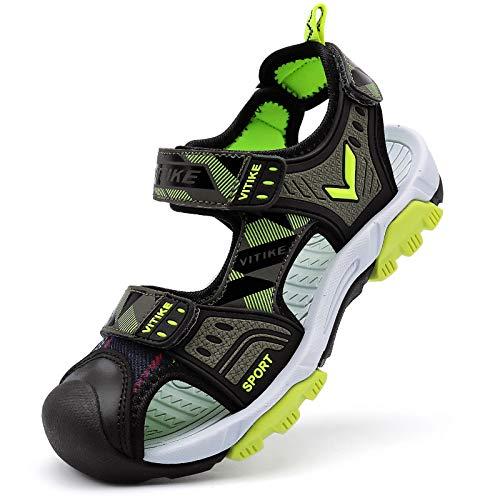 Sandales pour Enfants Plage Sports de Trekking,G-vert,33 EU