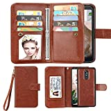 LG Stylo 5 Wallet Case,LG Stylo 5 Plus PU Leather Case,Spritech Luxury Cash Credit Card Slots Holder Carrying Flip Cover [Detachable Magnetic Hard Case] for LG Stylo 5