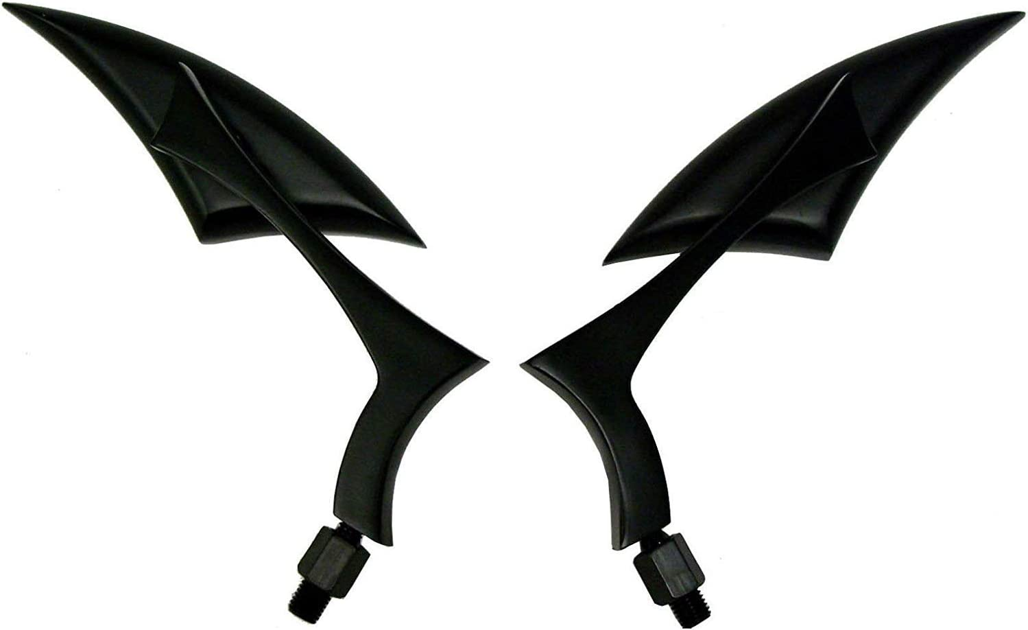 1Pair Black CNC Spear Style Motorcycle Deluxe 201 Mirrors Oakland Mall for View Rear