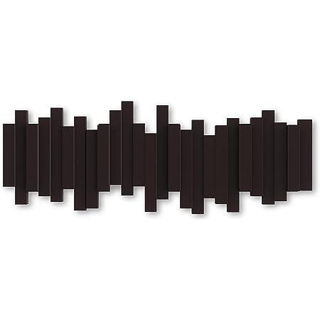 Umbra Sticks - Porte Manteau Mural, 5 Crochets Rabattables, marron Expresso