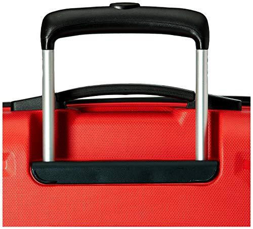 Aristocrat Sera Polypropylene 55 cms Red Hardsided Cabin Luggage (SERA55TFIR)