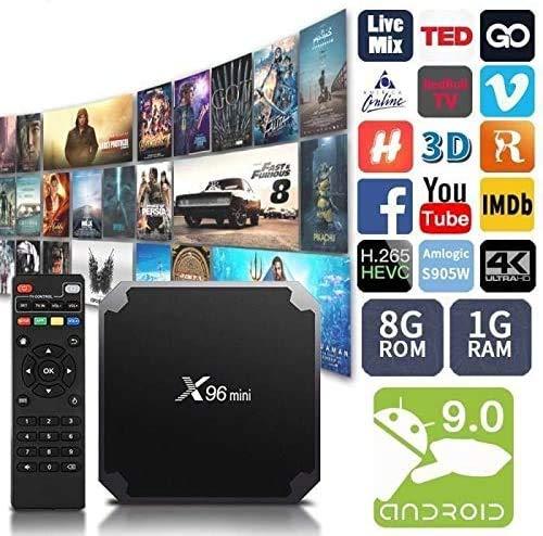 Smart TV Box X96 Mini Android 7.1 4K 4GB RAM 32GB ROM IPTV afstandsbediening
