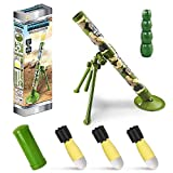 KoudHug Military Toy Mortar, Artillery,Cannon,Howitzer,Gun, Self-propelled Launch Set Includes 3 Safety LED Foam Shells, Launch Range of 16 Feet - Missile Launcher Best Gift for Boys and Girls (Green)