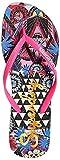 Superdry Super Sleek AOP Flip Flop, Chanclas Mujer, Multicolor (Crazy Tropical J2g), 40/41 EU