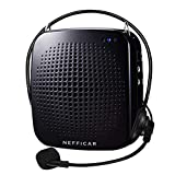 Nefficar Portable Wired LoudSpeaker Voice Amplifier with Microphone for Teachers, Instructors, Emcees, Tour