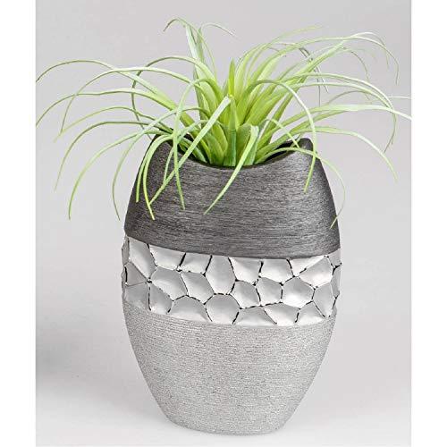 Formano Vase Silber-grau 20 cm 739841 modern