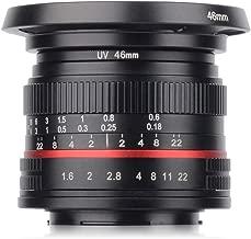 Krorux 35mm F1.6 Manual Focus Prime Lens for Sony E Mount APS-C Format Mirrorless Cameras
