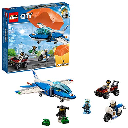 LEGO City Sky Police Parachute Arrest 60208 Building Kit , New 2019 (218 Piece)