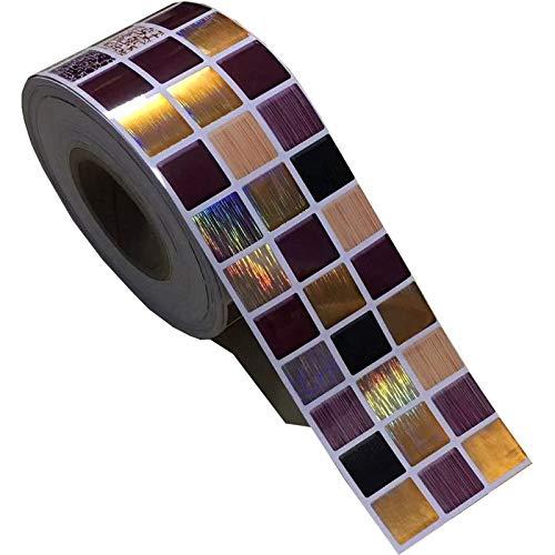 Laser grüne Mosaikaufkleber Vinyl wasserdichte Taille Selbstklebende Tapete Küche Badezimmer Fliesen PVC Wandaufkleber Grenzen (Color : Purple, Dimensions : 5mx12cm)