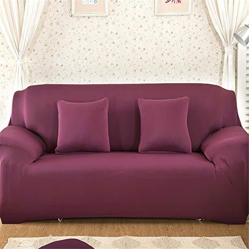 QBFT Zuivere Kleur Stretch Sofa Cover 3 Seater Antislip Volledige Overdekte Sofa Protector Vier Seizoenen Algemeen Doel Stoel Slipcover 1-Stuk Voor Woonkamer Kantoor Etc