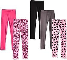 Spotted Zebra Bambina leggings, Pacco da 3