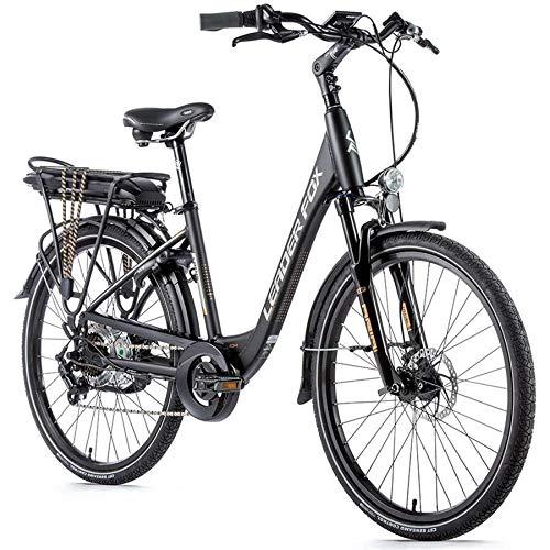 26 Zoll Leader Fox Lotus Lady E Bike Pedelec Damen Elektro Fahrrad 576 Wh 36V schwarz RH 46cm