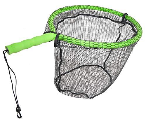 ForEverlast Inc. Generation 2 Non-Snag Floating Fishing Landing Net for Wade Fishing, Fly Fishing, Kayak Fishing, G2 Pro Net, Green