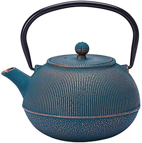 Household teapot, Small Teapot Cast Iron 700ML Blue Stove Kettle Handmade Office Make Teapot Home Tea Maker Gift for Women Men