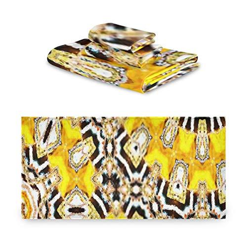 Juego de toallas de 3 piezas, patrón colorido, azulejos de cerámica, textiles, juegos de toallas de diseño, 1 toalla de baño, 1 paño, 1 toalla de mano, multifunción suave para el hogar, cocina, hotel