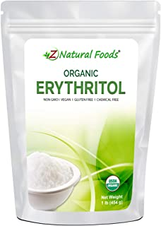 Organic Erythritol - Zero Calorie Alternative Sweetener - Low Glycemic Sugar Substitute - Great for Coffee, Tea, Drinks, S...