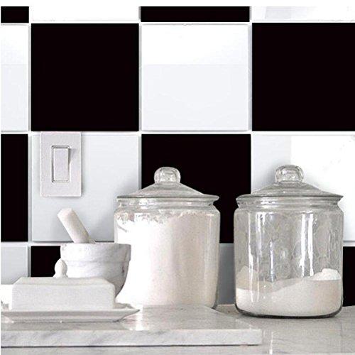 MINRAN DECOR BJ Art de tuiles Mural - Adhésif carrelage   Sticker Autocollant Carrelage - Mosaïque carrelage Mural Salle de Bain et Cuisine   - 20x20 cm - 10 pièces TS014