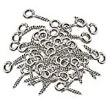 200pcs White K Screw Eye Pins Eyelets Screw for Keychain Jewelry Assortment, Arts & Crafts Projects, Cork Top Bottles, DIY Jewelry Making Findings, Charm Bead