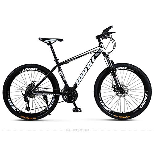 Mountain Bike Fuoristrada a velocità variabile, Mountain Bike con Telaio in Lega di Alluminio, Biciclette con Ruote all-in-One per Adulti, Freni a Doppio Disco, Mountain Bike da Esterno a 21/24/27/3