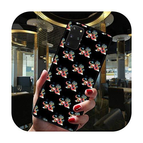 Hopereo Moda china vintage dragón negro teléfono caso para Samsung Galaxy S20 Fe Ultra S10 Lite S9 S8 Plus S7 Edge S10E silicona cubierta -Btpu-C3799-S9 Plus