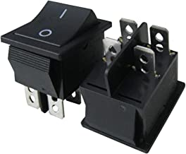 TWTADE / 5Pcs Black On/Off DPST 4 Pin 2 Position Mini Boat Rocker Switch Car Auto Boat Rocker Toggle Switch Snap AC 250V 125V/20A (Quality Assurance for 1 Years)XW-604AB1