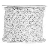 Nakpunar Non Elastic Bridal Button Loops (12', White)