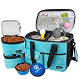 PetAmi Pet Travel Bag | Airline Approved Tote Organizer with Multi-Function Pockets, Food Container Bag and Collapsible Bowl | Perfect Dog Travel Set (Sea Blue, Small) bag organizers May, 2021