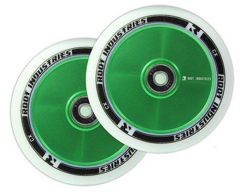 Root Industries Air Wheels green/white - 110mm (Pair)