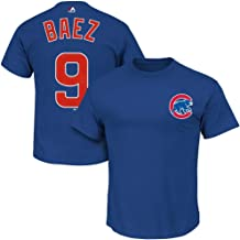Outerstuff Javier Baez Chicago Cubs MLB Majestic Boys Youth 8-20 Blue Official Player Name & Number T-Shirt
