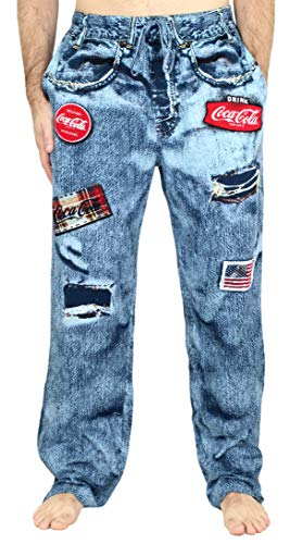Coca-Cola Men's Faux Denim Pajama Lounge Pant