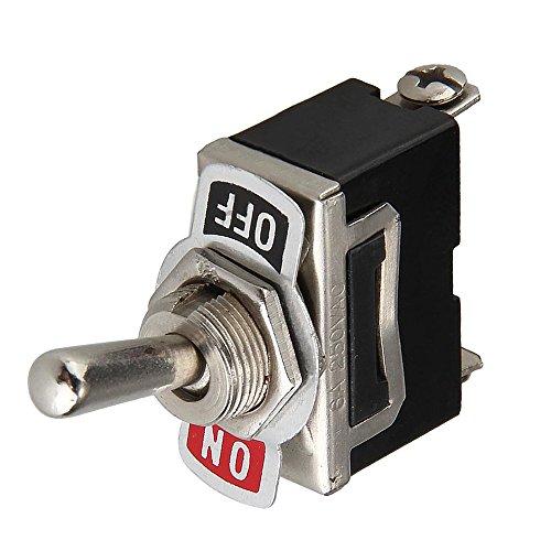 12V Interrupteur à Bascule Batterie Flick on/Off Voiture Auto Dash SPST Métal