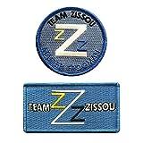 Team Zissou Life Aquatic Logo Frogman Costume Patch [Bundle 2PC Iron Sew on]