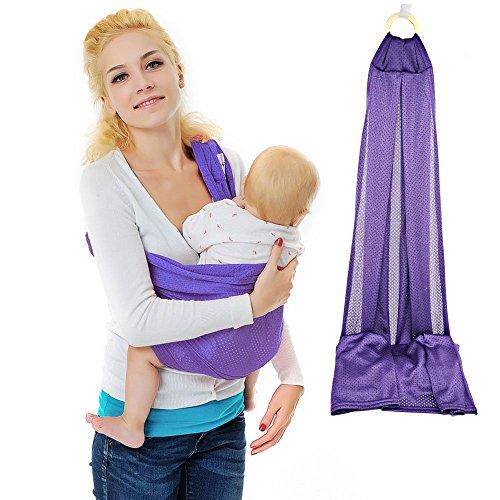 Vine Baby Bébé Echarpe de Portage Stretchy Wrap naturel Transporteur pourpre