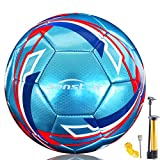 Senston Soccer Ball for Kids and Adult Training Ball Size 5 Official Match Football Balls with Pump