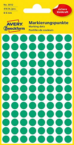 10 x Packs of 490 8mm Self Adhesive Round Dots Stickers TOTAL 4,900 stickers 10 Assorted Colours