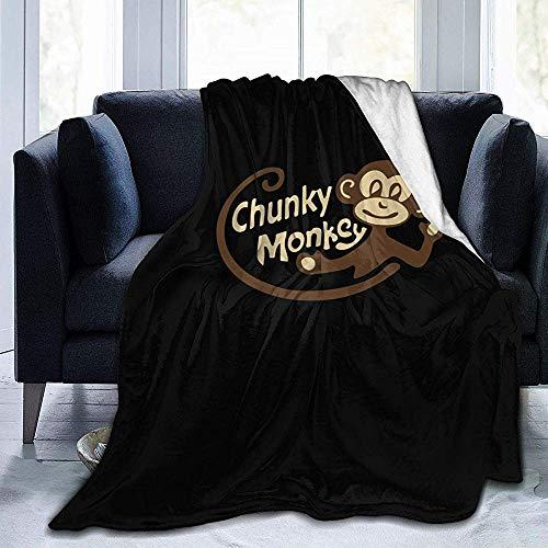 Dmarkss Chunky Monkey Manta de vellón de Franela Ultra Suave Todas Las Estaciones Manta de Tiro cálido Mantas de Cama 60 X 50In